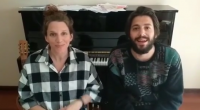 Salvador and Luísa Sobral in their home concert for charity